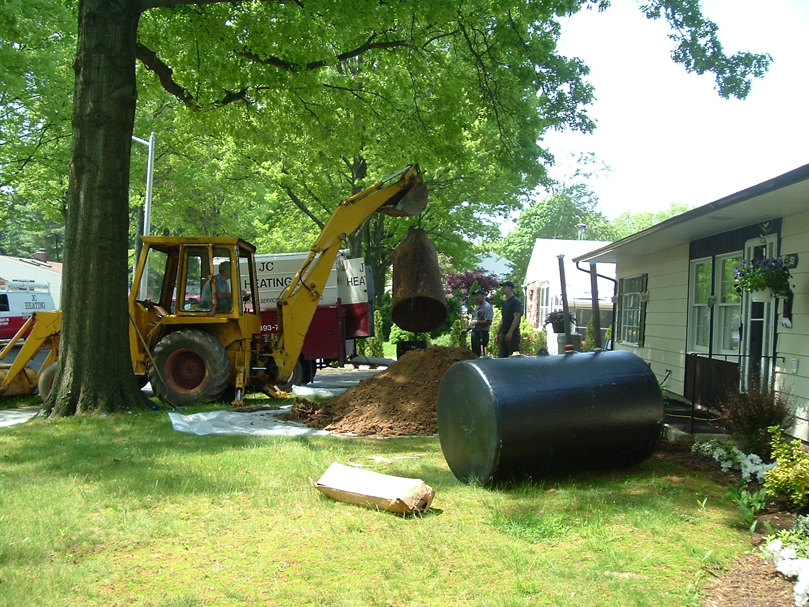 Underground oil tank replacement