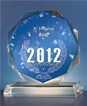 JC Heating the best in Levittown Award 2012