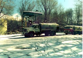 JC Heating fuel oil delivery trucks